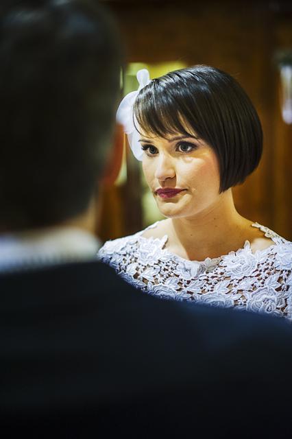 Agata składa przysięgę małżeńską