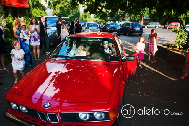 samochód na ślub - zdjęcia