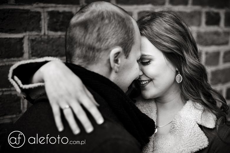 zakochani Ania i Michał na sesji narzeczeńskiej