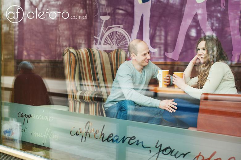 Ania i Michał przy kawie