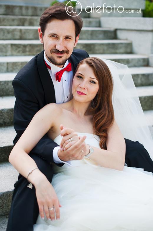 świeżoupieczone małżeństwo - Ania i Maciej