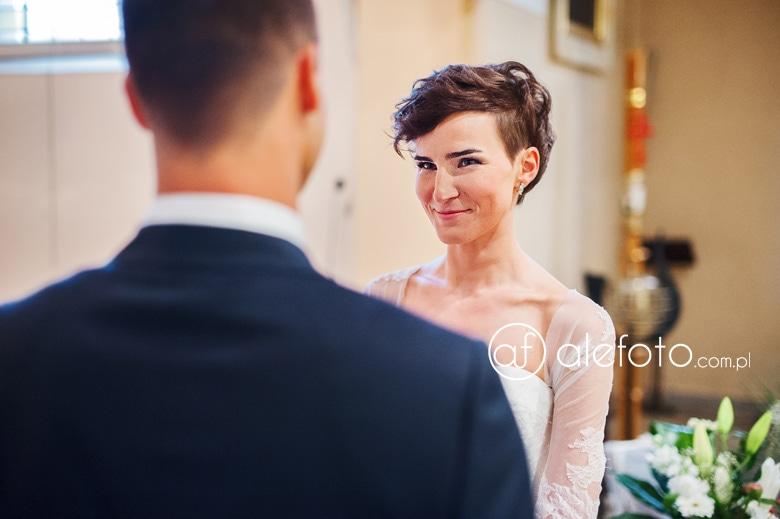 fotografia z przysięgi małżeńskiej