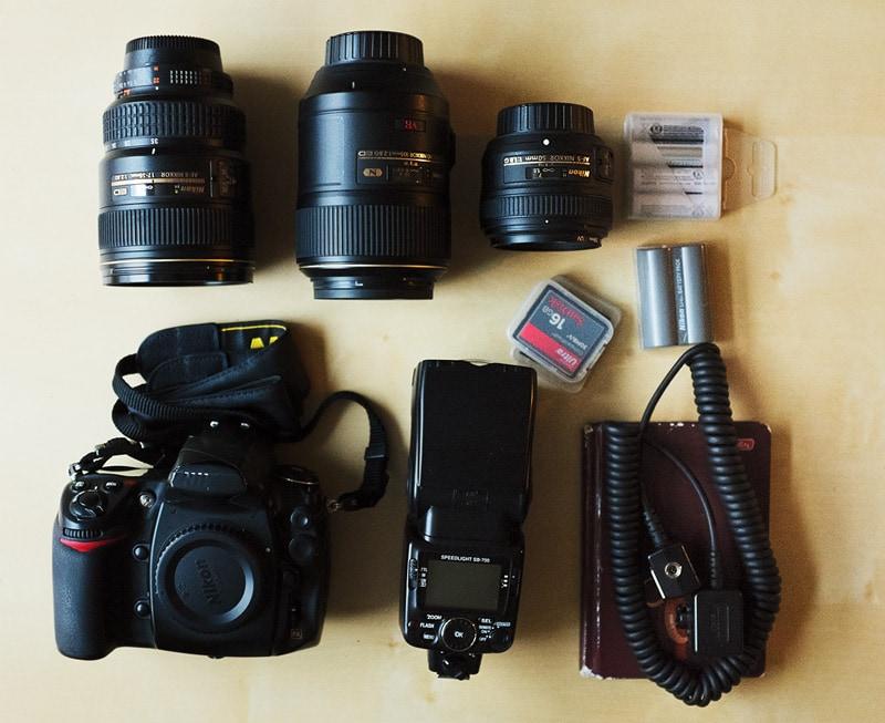 zestaw dla fotoreportera