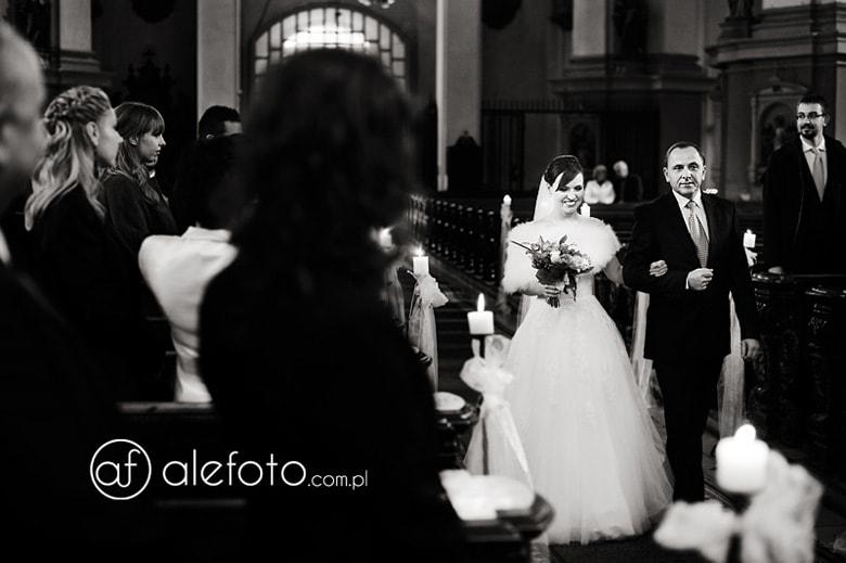 ślub w kościele św. Jana w Legnicy - zdjęcia