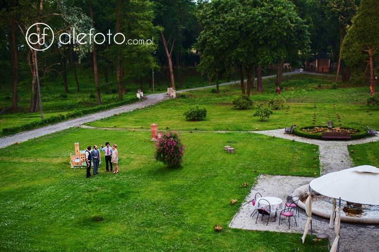 piękna sceneria ślubu