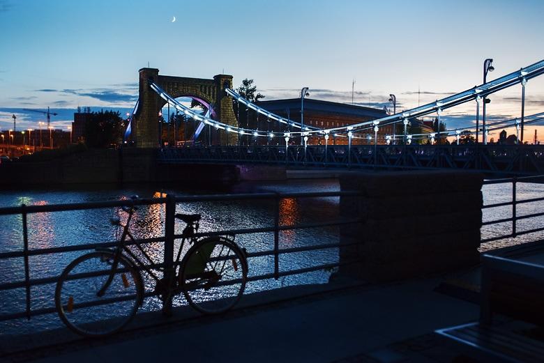 most grunwaldzki iluminacja