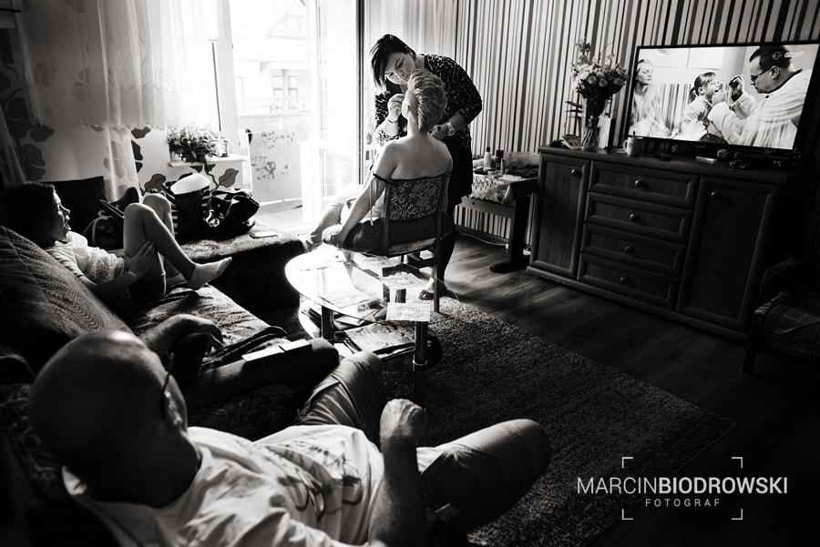 fotograf ślubny zdjęcia czarno-białe