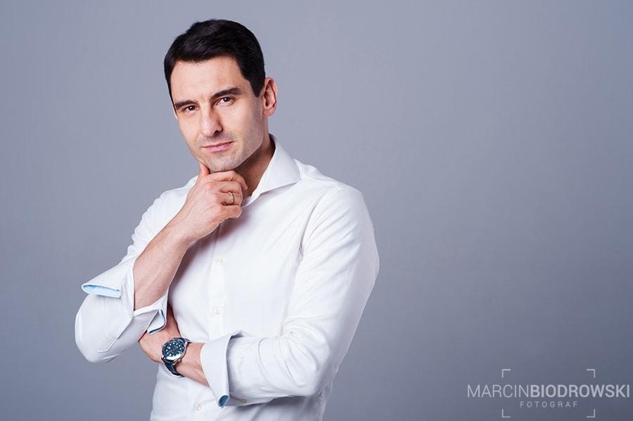 portret biznesowy z softboksem octa