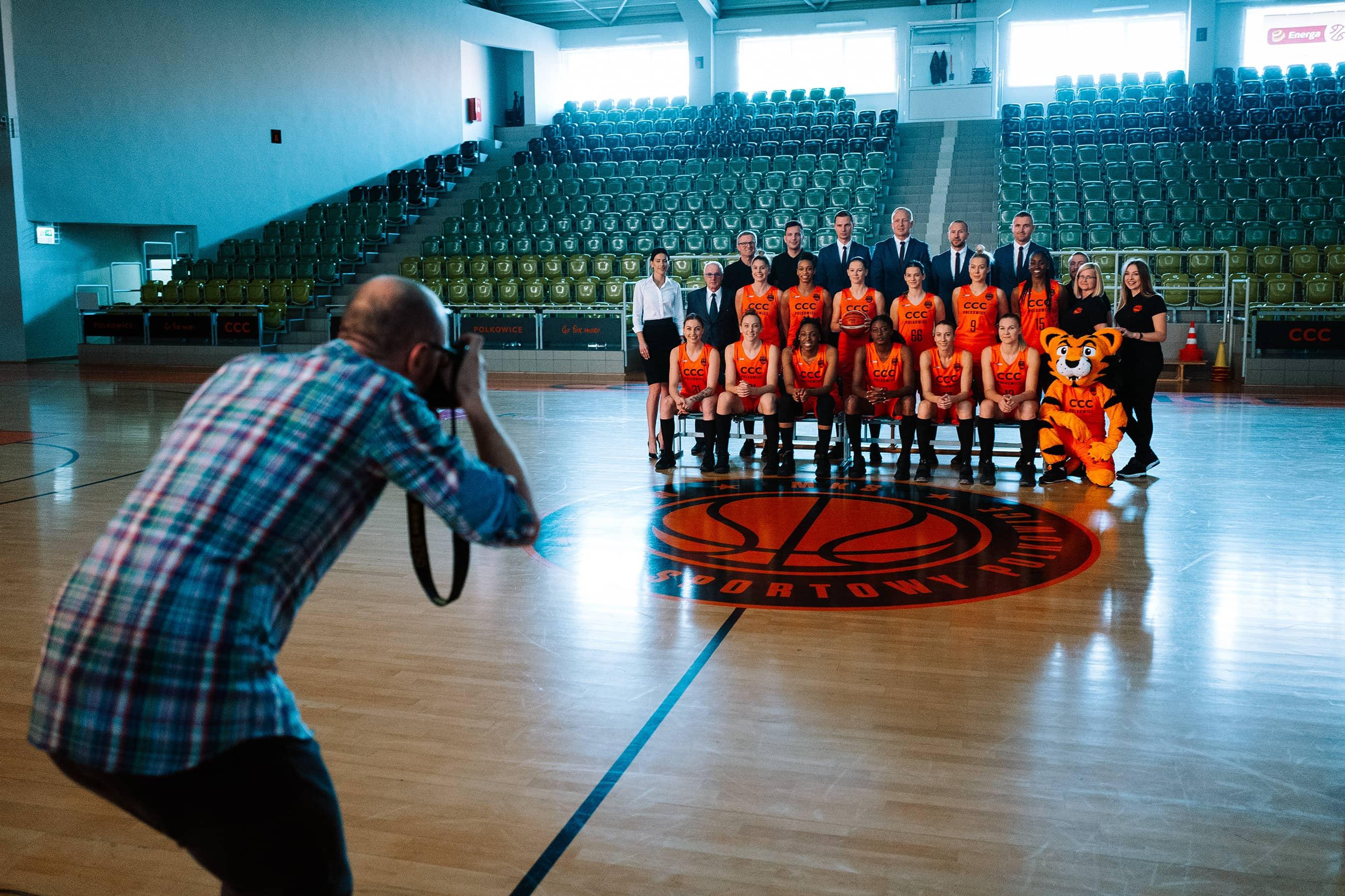 Sesja zdjęciowa dla klubu sportowego – backstage