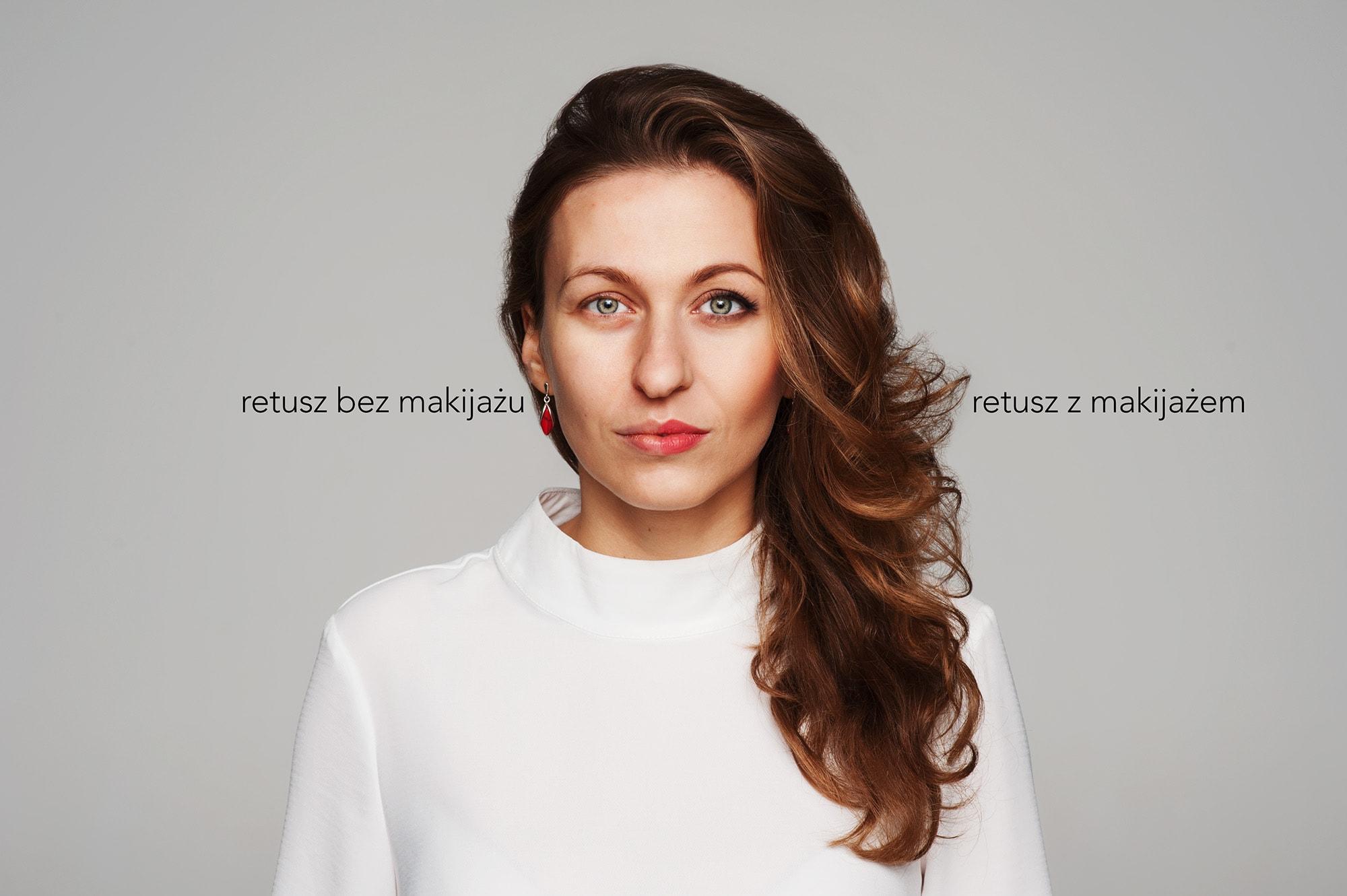 makijaż i bez po retuszu