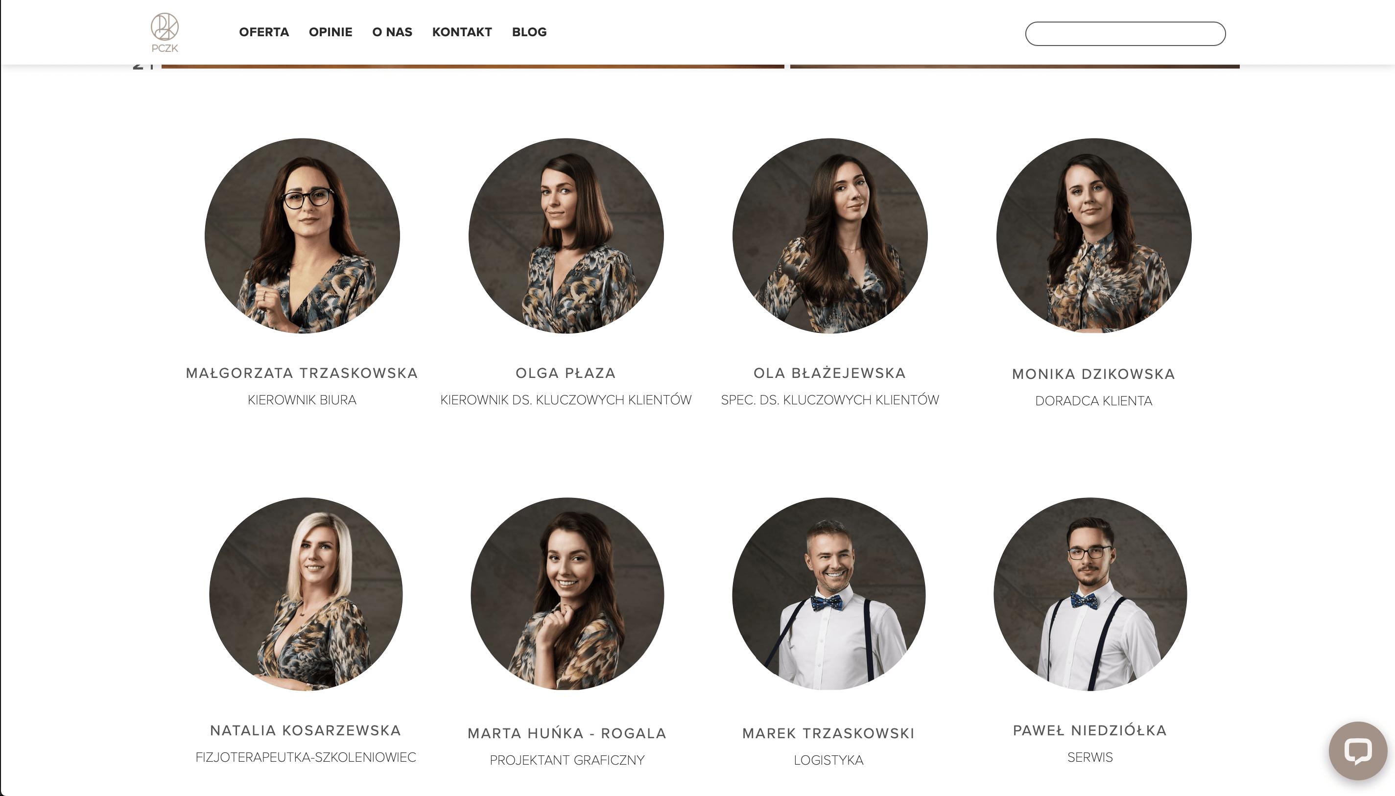 portrety firmowe na stronę internetową