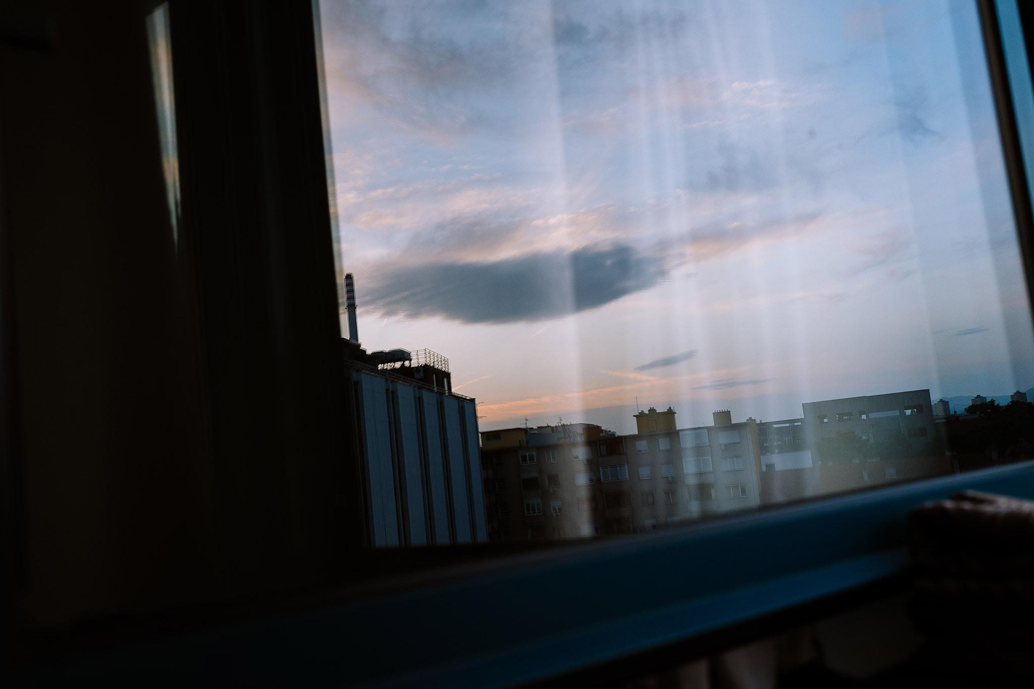 zachód słońca w stolicy Chorwacji